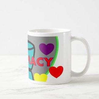 """PHARMACY""  Multi Color Hearts Mugs"