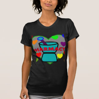 """PHARMACY""  Multi Color Hearts Tee Shirts"