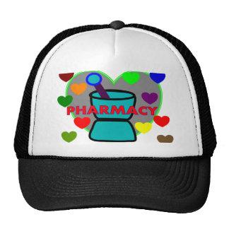 """PHARMACY""  Multi Color Hearts Trucker Hat"
