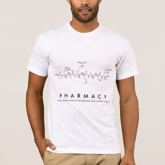 Pharmacy peptide name shirt