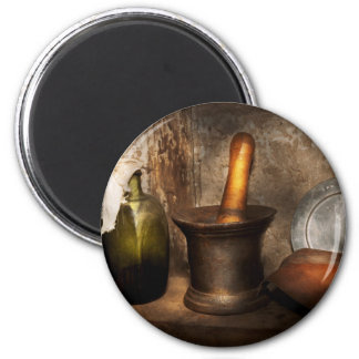Pharmacy - Pestle - Home remedies 2 Inch Round Magnet