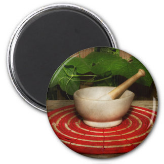 Pharmacy - Pestle - The herbalist 2 Inch Round Magnet