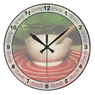 Pharmacy - Pestle - The herbalist Clocks