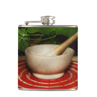 Pharmacy - Pestle - The herbalist Hip Flask