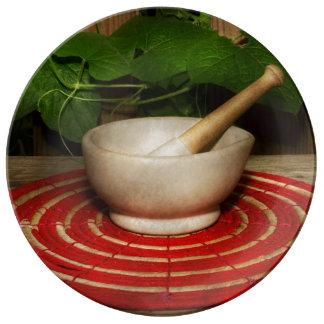 Pharmacy - Pestle - The herbalist Porcelain Plates