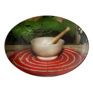 Pharmacy - Pestle - The herbalist Porcelain Serving Platter