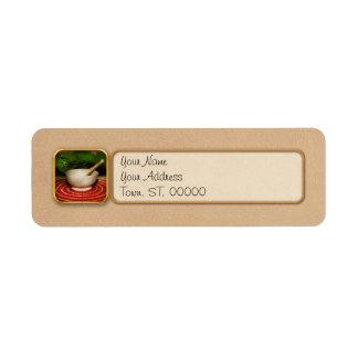 Pharmacy - Pestle - The herbalist Return Address Label