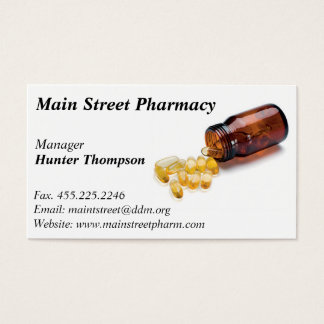 Pharmacy Pharmacist business card