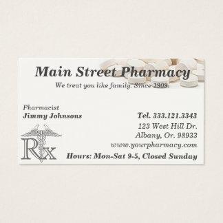 Pharmacy Pharmacist Medication List Business Card