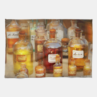 Pharmacy - Serums and Elixirs Kitchen Towel