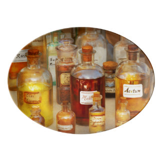 Pharmacy - Serums and Elixirs Porcelain Serving Platter