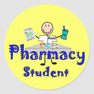 Pharmacy Student Gifts Round Stickers