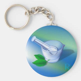 Pharmacy Symbol Keychain