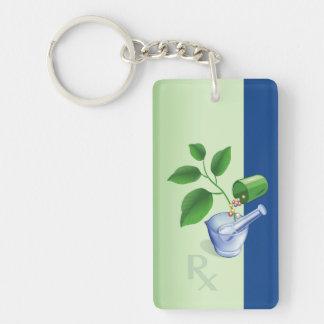 Pharmacy Symbols Keychain
