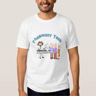 Pharmacy Tech Gifts Stick People Design Shirt