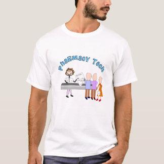 Pharmacy Tech Gifts Stick People Design T-Shirt