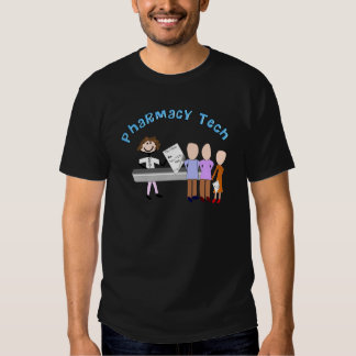 Pharmacy Tech Gifts Stick People Design T-shirts