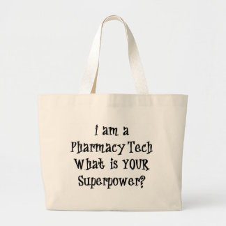 pharmacy tech large tote bag