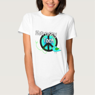 Pharmacy Tech Peace Sign Design Gifts Tee Shirt