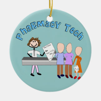 Pharmacy Tech  Prescription Christmas Ornament
