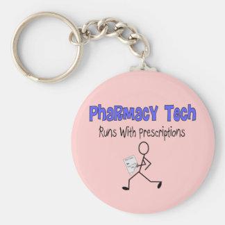 "Pharmacy Tech ""Runs With Prescriptions"" T-Shirts Keychain"