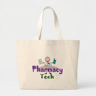 Pharmacy Tech Stick People Design Gifts Jumbo Tote Bag