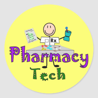 Pharmacy Tech Stick People Design Gifts Stickers