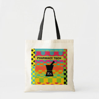 Pharmacy  Tech Tote Whimsical Pestle and Mortar