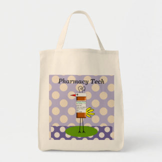 Pharmacy Tech Whimsical Bird Tote Bag