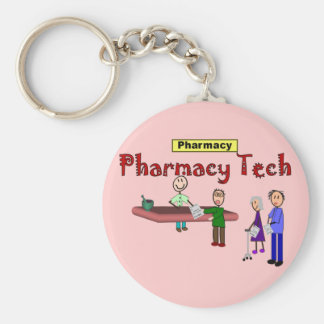 Pharmacy Tech With Customers Design Keychain