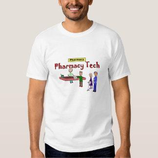 Pharmacy Tech With Customers Design Tee Shirts