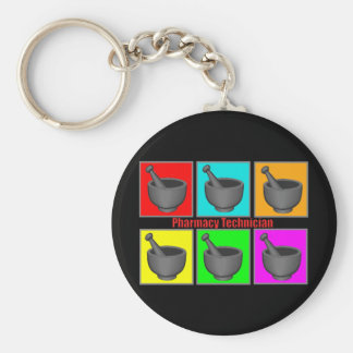 Pharmacy Technician Popart Gifts Keychain