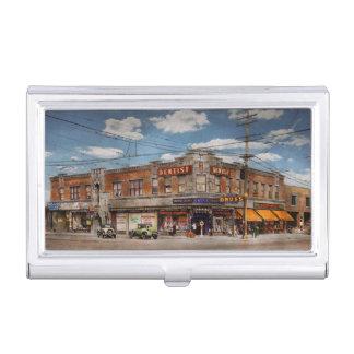 Pharmacy - The corner drugstore 1910 Business Card Holder