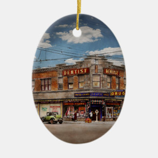 Pharmacy - The corner drugstore 1910 Ceramic Ornament