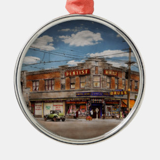 Pharmacy - The corner drugstore 1910 Metal Ornament
