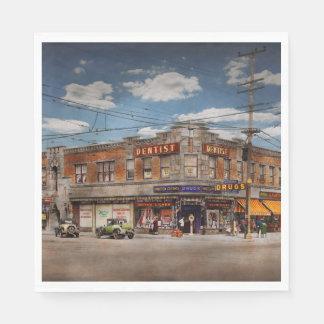 Pharmacy - The corner drugstore 1910 Paper Napkin