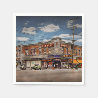 Pharmacy - The corner drugstore 1910 Paper Napkins