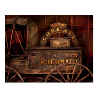 Pharmacy - The Rheumatic Cure wagon Postcard