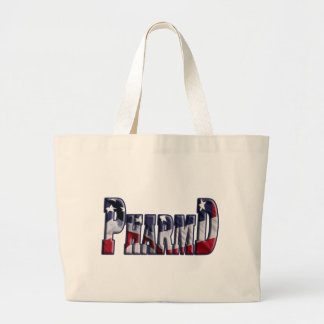 PharmD FLAG WRAP  (DOCTOR OF PHARMACY) Large Tote Bag