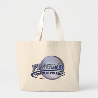 PharmD LOGO - DOCTOR OF PHARMACY Large Tote Bag