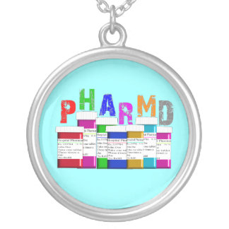 PharmD Pharmacy Student Sterling Necklace