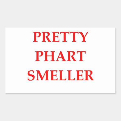 phart smeller rectangular stickers