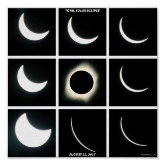 Phases of the August 21st 2017 Eclipse Poster