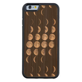 Phases of the moon carved cherry iPhone 6 bumper case