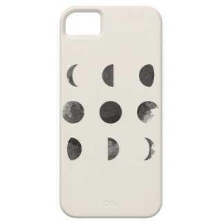 Phases of the Moon Lunar Watercolor Art iPhone 5 Cases