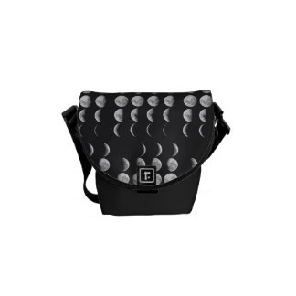 Phases of the moon messenger bag