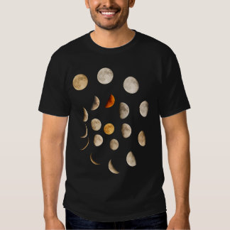 Phases of the Moon Spiral T Shirts