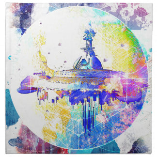 Phate-Derelict Starships Napkin