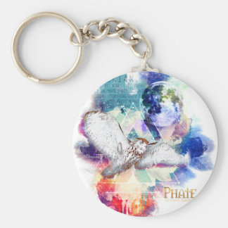 Phate-Vu Verian-The Great White Owl Basic Round Button Keychain