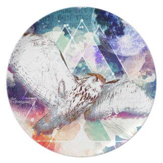 Phate-Vu Verian-The Great White Owl Plate